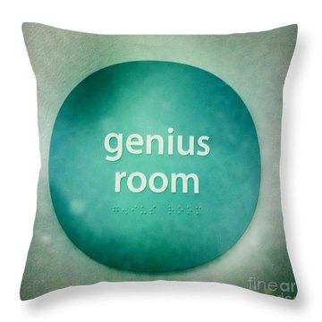 Throw Pillow featuring the photograph Genius Room by Nina Prommer