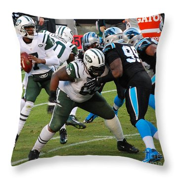 Geno In The Pocket Throw Pillow