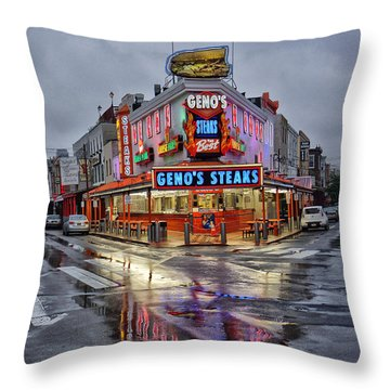 Geno's 7 Throw Pillow by Jack Paolini