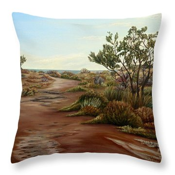 Throw Pillow featuring the painting Genoveses' Walk by Angeles M Pomata