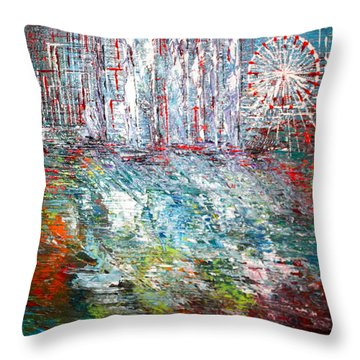 Gentle Breeze  Throw Pillow by George Riney