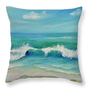 Gentle Breeze Throw Pillow by Teresa Wegrzyn