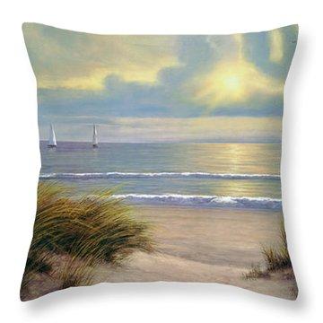 Gentle Breeze Trip Tych Throw Pillow
