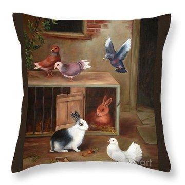Gentle Creatures Throw Pillow