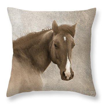 Gentle Devotion Throw Pillow by Betty LaRue