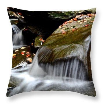 Gentle Falls Throw Pillow by Frozen in Time Fine Art Photography