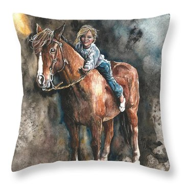 Gentle Friend Throw Pillow