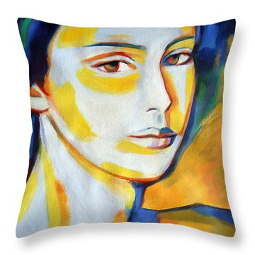 Gentle Gaze Throw Pillow
