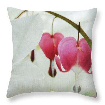 Gentle Heart Throw Pillow by Ginger Denning