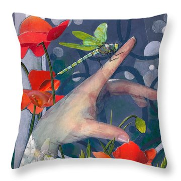 Gentle Landing Throw Pillow