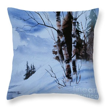 Gentle Mountains Throw Pillow by Teresa Ascone