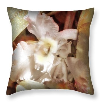 Gentle Orchid Throw Pillow