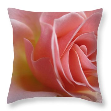 Gentle Pink Rose Throw Pillow