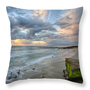 Gentle Sunset Throw Pillow