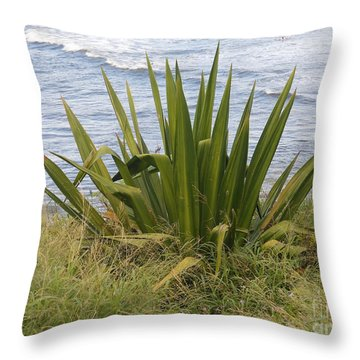 Throw Pillow featuring the photograph Gentle Surf Of Maui by Fred Wilson
