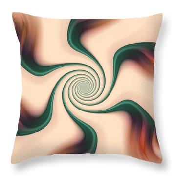 Gentle Swirls Throw Pillow by Anastasiya Malakhova