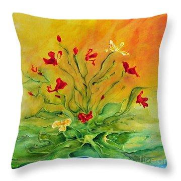Gentle Throw Pillow by Teresa Wegrzyn