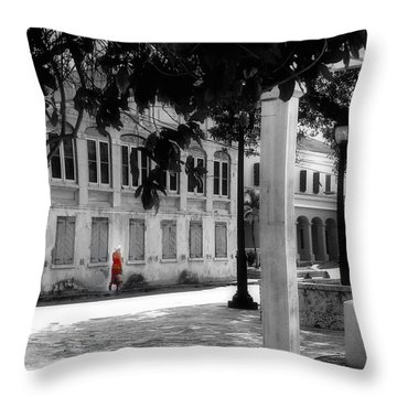 Throw Pillow featuring the photograph Gentle Warrior On Strand Street by EDi by Darlene