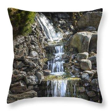 Gentle Waterfall Throw Pillow