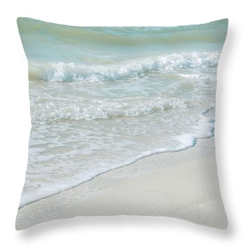 Gentle Waves Throw Pillow