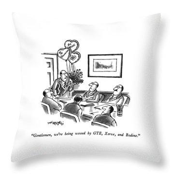 Gentlemen, We're Being Wooed By Gte, Xerox Throw Pillow