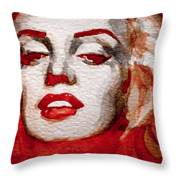 Throw Pillow featuring the painting Gentlemens Prefer Blondes by Laur Iduc