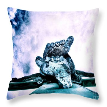 Throw Pillow featuring the photograph Gently Off The Edge by Heather King