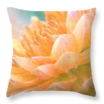 Gently Textured Dahlia  Throw Pillow