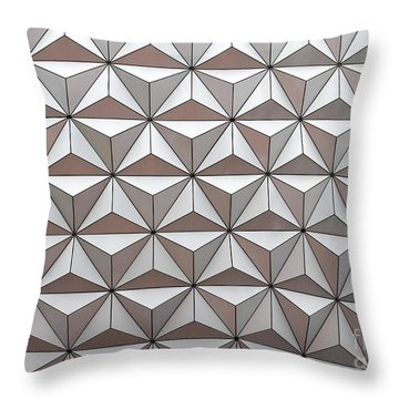 Geodesic Throw Pillow by Sabrina L Ryan