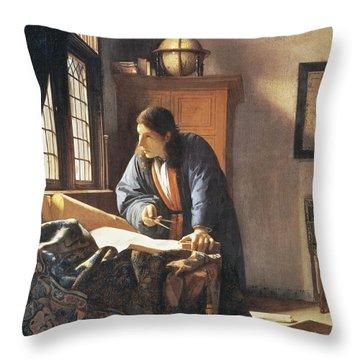 Geographer, 1669  Throw Pillow