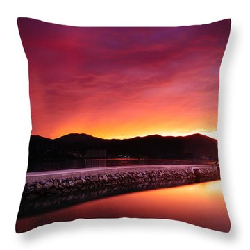 Geoje Skyfire Throw Pillow