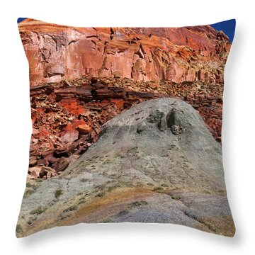 Geology Triptych - One Throw Pillow