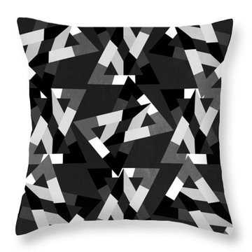 Geometric 12 Throw Pillow by Mark Ashkenazi