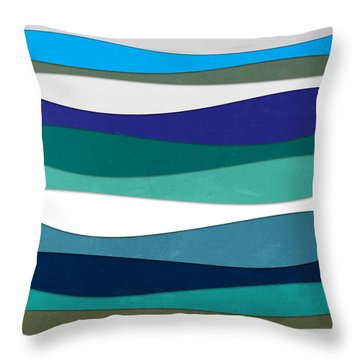 Geometric 16  Throw Pillow by Mark Ashkenazi