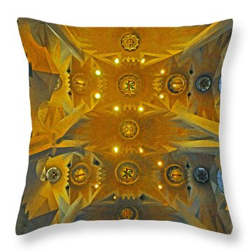 Throw Pillow featuring the photograph Geometric Abstract by Cindy Lee Longhini