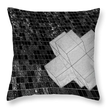 Geometric Abstract Throw Pillow by Jack Zulli