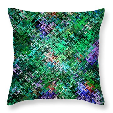 Geometric Abstract Throw Pillow by Mariarosa Rockefeller