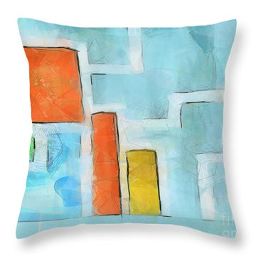 Geometric Abstract Throw Pillow by Pixel Chimp