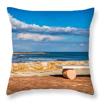 Throw Pillow featuring the photograph Geometric Bench by Gary Gillette