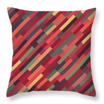 Throw Pillow featuring the digital art Geometric Block by Mike Taylor