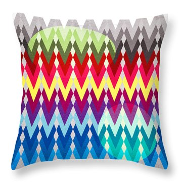 Geometric Colors  Throw Pillow by Mark Ashkenazi