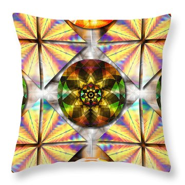 Geometric Dreamland Throw Pillow by Derek Gedney