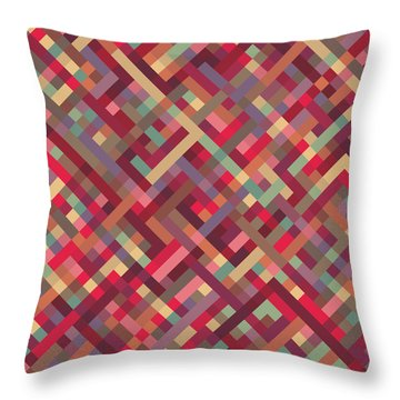 Geometric Lines Throw Pillow by Mike Taylor
