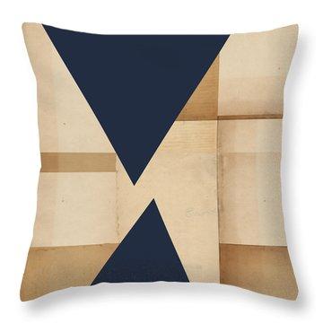 Geometry Indigo Number 2 Throw Pillow
