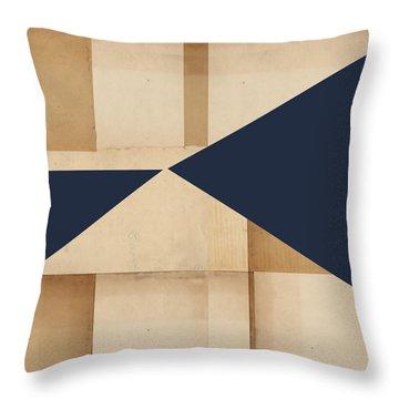 Geometry Indigo Number 4 Throw Pillow