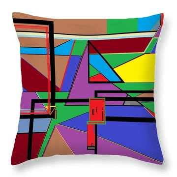 Geometry - Shape On Shape Throw Pillow by Eloise Schneider