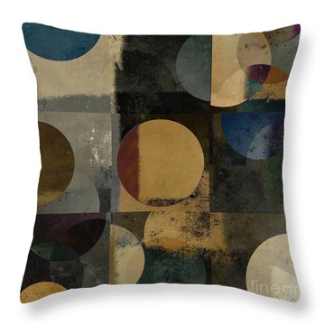 Geomix 01 - 111bt2a Throw Pillow by Variance Collections