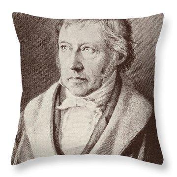 Georg Hegel  Throw Pillow