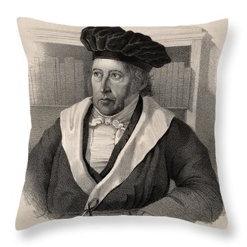 Georg Wilhelm Friedrich Hegel Throw Pillow