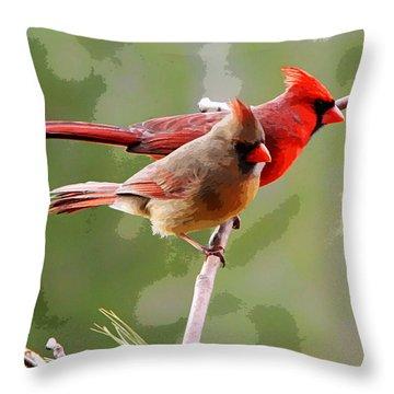 George And Gracie Throw Pillow by John Freidenberg